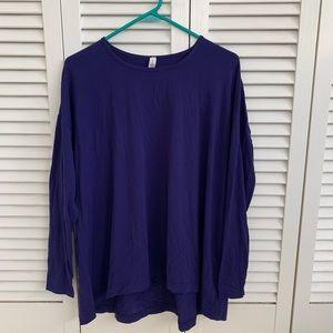 Lululemon purple long sleeve shirt